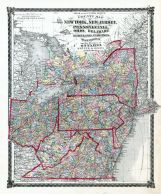 Map Of New York And Ohio.County Map New York New Jersey Pennsylvania Ohio Delaware